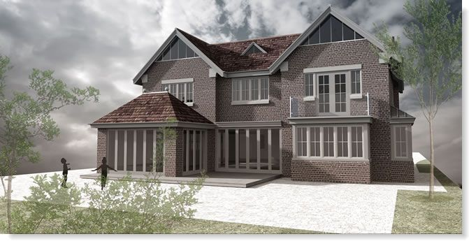 Proposed new six bedroom house in Beaconsfield